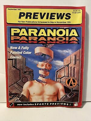 Previews Catalog W/ Advance Dungeons Dragons Promo Cards 1991 Paranoia September • 21.45£