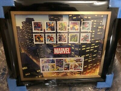 Royal Mail/Mint Marvel Collection Signed And Framed Stamps, Silver Medals, RARE • 999.99£