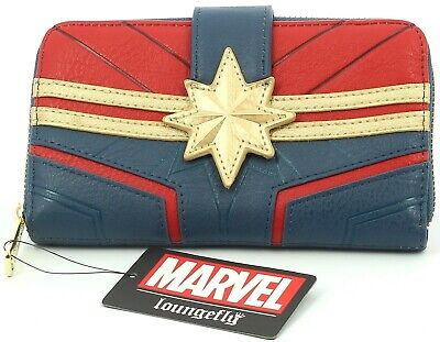 Loungefly Captain Marvel Zip-Around Ladies Purse Clutch HandBag New Design** • 35.19£