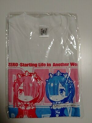 Re-Zero Rem Ram T-shirt Official Banpresto Limited Crane Game Prize From Japan! • 26.97£
