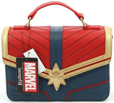 Officially Licensed Loungefly Marvel Captain Marvel Handbag And Purse • 88.49£
