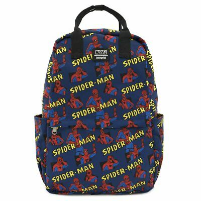 Loungefly Nylon Spiderman Backpack Bag Rucksack • 55.09£