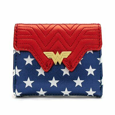 Loungefly X Dc Comics Wonder Woman Red White And Blue Flap Wallet • 34.99£