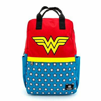 Loungefly X Dc Comics Wonder Woman Vintage Nylon Square Backpack • 57.99£