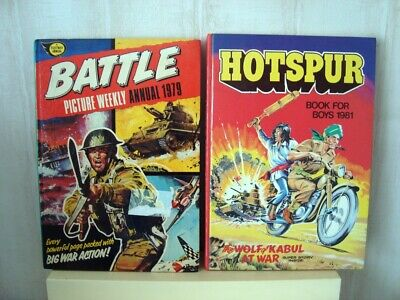 2 X Comic Annual  (  1979 BATTLE /  1981 HOTSPUR  ) • 3.99£