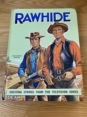 Vintage Rawhide Annual 1962 American Western Hardback Book Cattle Ranch Cowboys. • 2.30£