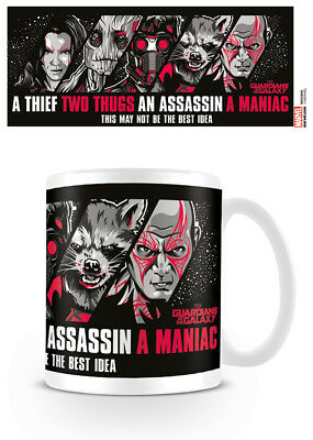 Set Of 2 X Marvel Guardians Of The Galaxy Not The Best Idea Mug Tea Coffee Cup • 15.99£