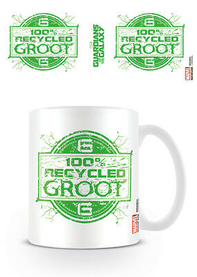 Set Of 2 X Marvel Guardians Of The Galaxy Recycled Groot Mug Tea Coffee Cup • 15.99£