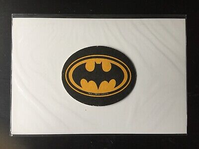 Vintage Bat-Signal Beer Mat/Coaster • DC Comics • 1989 Batman Movie Promo • Rare • 5£
