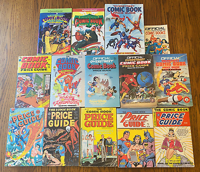 LOT: 14 COMIC BOOK PRICE GUIDE (13 OVERSTREET) #10-17 Spans 20-42 VTG Reference • 38.33£