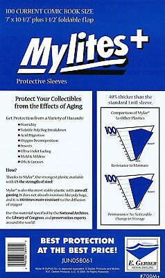 Mylites+  Protective Sleeves  Pack Of 100 Current Comic Size (e. Gerber) • 42.99£