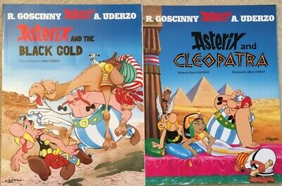 2 Asterix And Obelix Books - Cleopatra And Black Gold • 0.99£