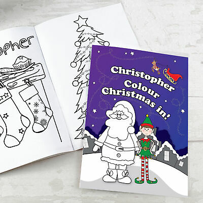 Personalised Its Christmas Elf Colouring Book • 8.99£