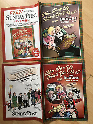 "The Broons ""Wha Dae  Ye Think Ye Are"" ? Magazines Parts 1 & 2. New • 5£"