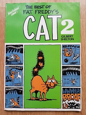 The BEST Of FAT FREDDY'S CAT 2 Gilbert Shelton RARE 1984 PAPERBACK BOOK Humour • 29.99£