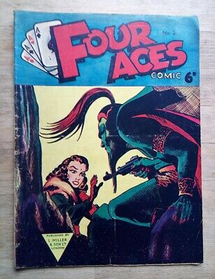 Four Aces Comic No. 2 From 1954, UK Issue, Flash Gordon, The Phantom • 7.16£