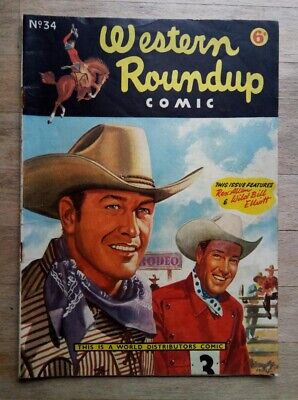 Western Roundup Comic No. 34 From 1952 - Rex Allen, Cowboy, UK Issue • 9.99£