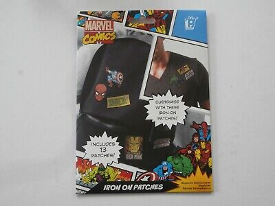 New Official Paladone Marvel Comics Pack Iron-On Patches Hulk Iron Man Panther • 1.95£