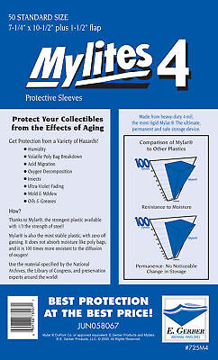 Mylites 4  Protective Sleeves  Pack Of 50 Standard Comic Size (e. Gerber) • 30.99£