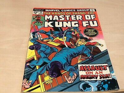 September 1975 No.32 Masters Of Kung Fu Marvel Comic Assault On Angry Sean • 10.99£