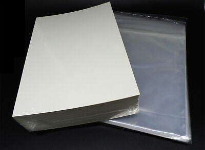 100 Docsmagic.de Silver Size Resealable Comic Bags + Backing Boards - Combo Pack • 14.85£