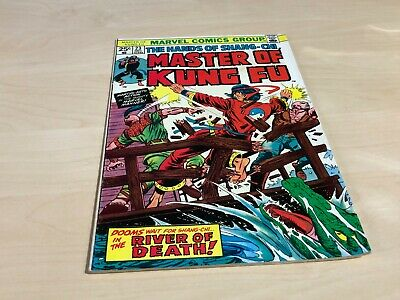 December 1974 No.23 25c Masters Of Kung Fu Marvel Comic River Of Death! • 6.99£