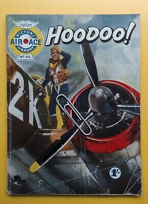 Vintage Comic Book Air Ace Picture Library No 45 Hoodoo Fleetway  • 3.99£