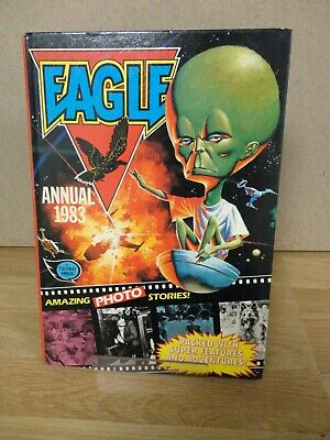 Eagle Annual 1983 Vintage Adventure/Action SciFi Comic Hardback UNCLIPPED. • 4.99£