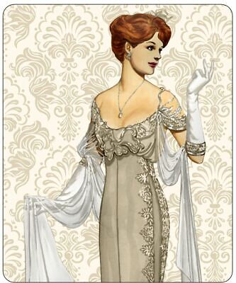 Art Deco Lady With White Gloves Mousepad • 7.99£