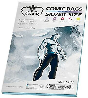 Comic Bags Resealable (Silver Size, Pack Of 100) • 24.08£