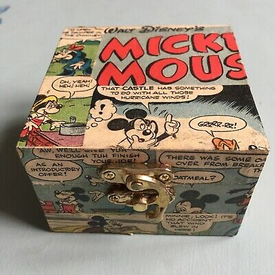 Mickey Mouse  Découpage  Handmade Box.  Made From Original Comics • 3.99£
