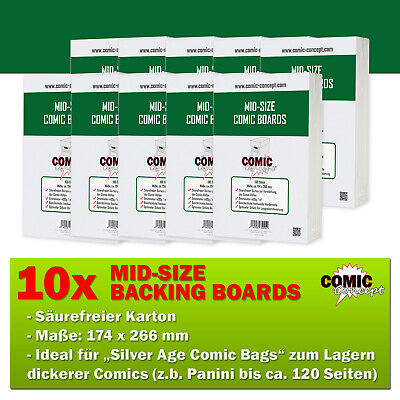 1000x Comic Concept Mid-Size Boards (174 X 266 Mm) • 103.95£
