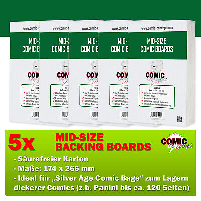 500x Comic Concept Mid-Size Boards (174 X 266 Mm) • 51.27£
