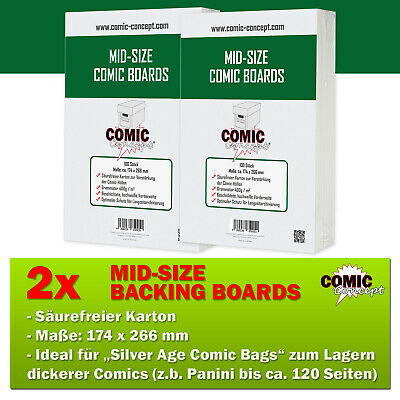 200x Comic Concept Mid-Size Boards (174 X 266 Mm) • 21.14£
