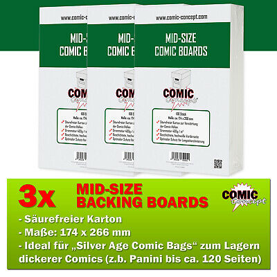 300x Comic Concept Mid-Size Boards (174 X 266 Mm) • 31.44£