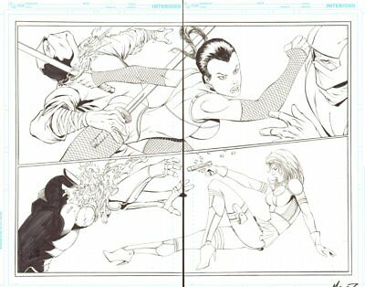 Notti & Nyce #1 Pgs. 10 & 11 - Sexy Babes Action - 2013 Art By Marat Mychaels • 166.33£