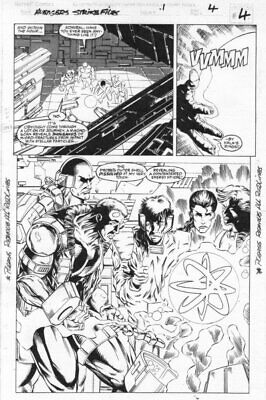 Avengers Strike Files #1 P. 4 Splashy Art By Jeff Moore • 82.45£