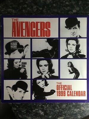Rare THE AVENGERS TV SHOW CALENDER OFFICIAL 1999 Steed Emma Peel • 3.99£