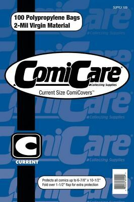 100 Current Age Polypropylene Comic Bags (free Uk Shipping) Comicare Supply109 • 5.49£