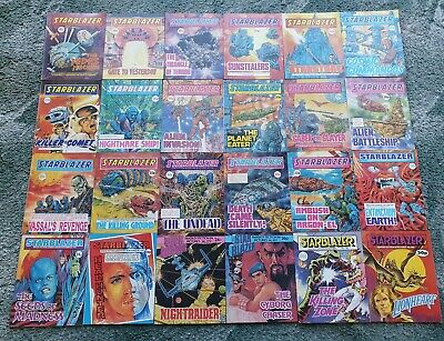 25 X Starblazer Space Fiction Adventure In Pictures Comics Collection Job Lot • 37.50£