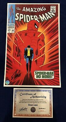 Amazing Spider-Man #50 Litho Signed By Stan Lee With COA John Romita Art LIMITED • 140.15£