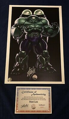 Unique Hulk/Hulkbuster SDCC Litho Signed By Stan Lee With COA LIMITED!! HOT!! • 147£