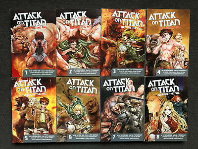 Attack On Titan Before The Fall Manga Collection Vol 1-8 Inc 6 First Printings • 19£