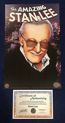 The Amazing Stan Lee Portrait Litho Signed By Stan Lee W/ COA SPIDER-MAN!! RARE! • 140.15£