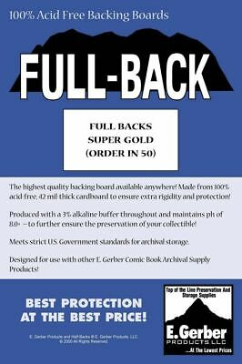 50 X SUPER GOLD SIZE FULL BACK COMIC BACKING BOARDS (SUPPLY588) • 20.40£