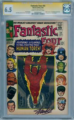 Fantastic Four #54 Cgc 6.5 Signature Series Signed Stan Lee Black Panther Movie • 299.95£