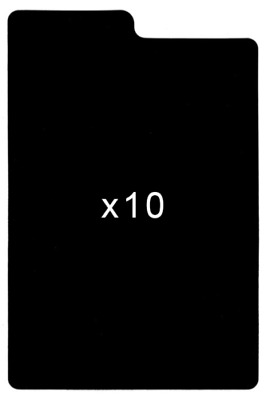 10 Black Plastic Comic Book Title Dividers / Partitions • 8.09£