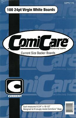 100 Comicare Current Age Size Backer Boards • 15.99£