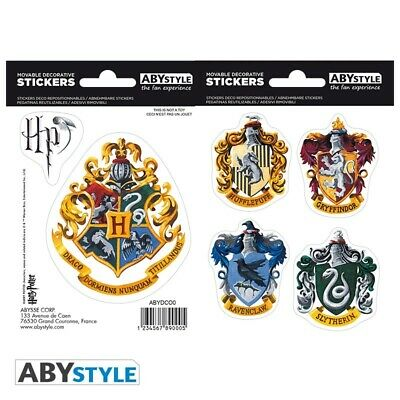 Abyssecorp Harry Potter Hogwarts Houses Sticker Pack • 4.60£