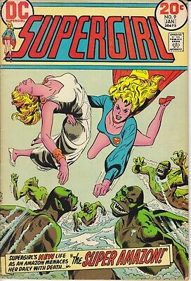 DC Comic SUPERGIRL 9 First Series 1972  Very Good Condition • 4.99£